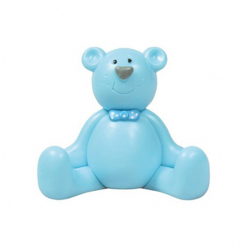 Plastic Cake Topper Decoration - Blue Teddy